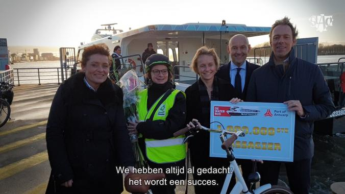 DeWaterbus is een succesverhaal Astad TV Annick De Rider DEME Lydia Peeters Het Steen Antwerpen Port of Antwerp An Rombouts