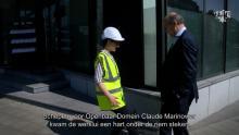Schepen Marinower voor openbaar domein bezoekt werf Plantin en Moretuslei Astad TV Corona