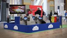Brussels Airlines landt met Rode Duivels in Antwerpse Stadsfeestzaal (video)